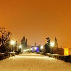 Пазл онлайн: Карлов мост зимой