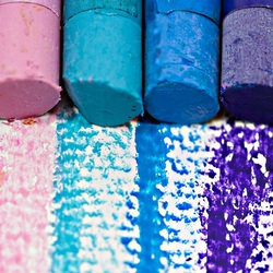 Пазл онлайн: Цветные мелки