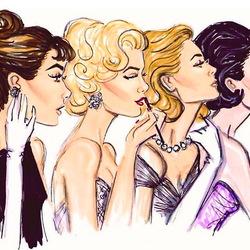 Пазл онлайн: За макияжем