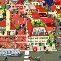 Пазл онлайн: Жизнь города