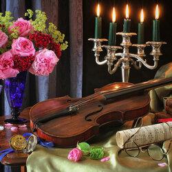 Пазл онлайн: Музыка роз