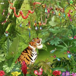 Пазл онлайн: Веселые джунгли