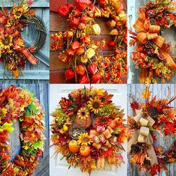 Пазл онлайн: Осенние венки