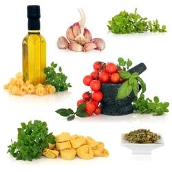 Пазл онлайн: Ингредиенты итальянской кухни