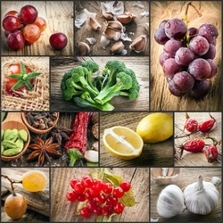 Пазл онлайн: Овощи и фрукты