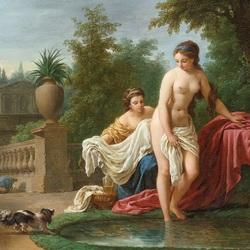 Пазл онлайн: Давид и Вирсавия