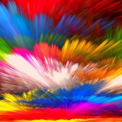 Пазл онлайн: Цветные облака