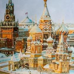 Пазл онлайн: Москва златоглавая