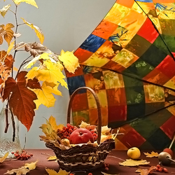 Пазл онлайн: Осенний портрет