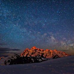 Пазл онлайн: Горные вершины и созвездия