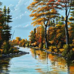 Пазл онлайн: Осенняя река