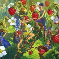 Пазл онлайн: Сбор ягод