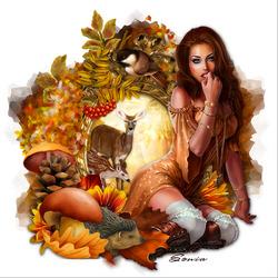 Пазл онлайн: Госпожа леса