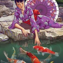 Пазл онлайн: Приплывут ко мне рыбки