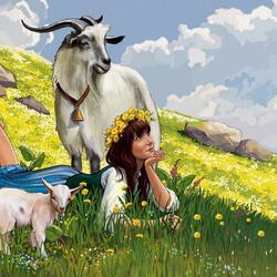 Пазл онлайн: Пастушка