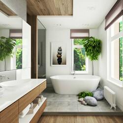 Пазл онлайн: Ванная в морском стиле