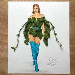 Пазл онлайн: Мятный костюм