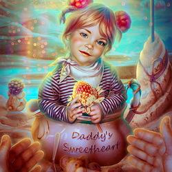 Пазл онлайн: Папина сладость