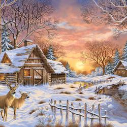 Пазл онлайн: Персидская зима