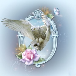 Пазл онлайн: Полярная сова