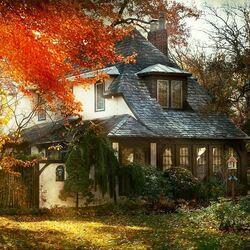 Пазл онлайн: Осень как в сказке
