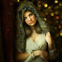 Пазл онлайн: Она-волк