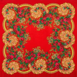 Пазл онлайн: Цветочный веер