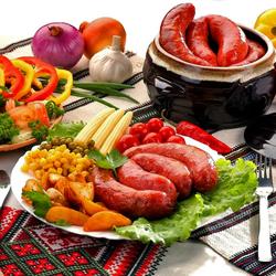 Пазл онлайн: Гриль-колбаски