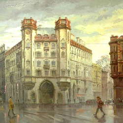 Пазл онлайн: Площадь Льва Толстого