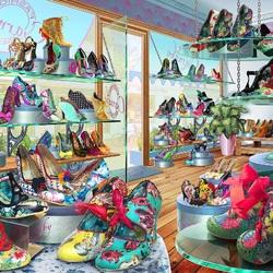 Пазл онлайн: Обувной магазин