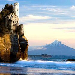 Пазл онлайн: Скала-замок