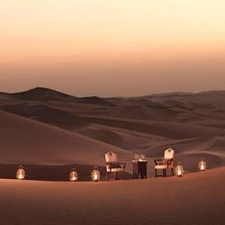 Пазл онлайн: Романтический вечер в пустыне