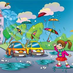 Пазл онлайн: Дождик