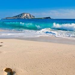 Пазл онлайн: Следы на песке