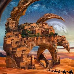 Пазл онлайн: Город в пустыне