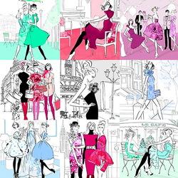 Пазл онлайн: Модные зарисовки