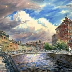 Пазл онлайн: Львиный мост
