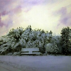 Пазл онлайн: Снежный день