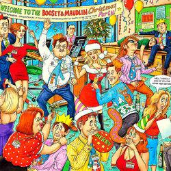 Пазл онлайн: Рождественская вечеринка в офисе