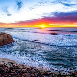 Пазл онлайн: Закат солнца