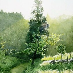 Пазл онлайн: За деревьями