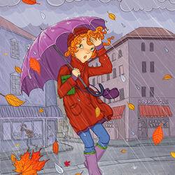 Пазл онлайн: Дождливый ноябрь