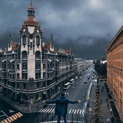 Пазл онлайн: Улица Садовая