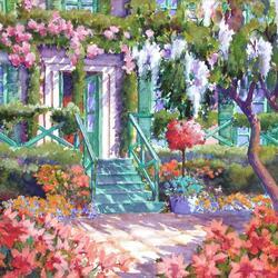 Пазл онлайн: Сад Моне