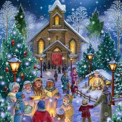 Пазл онлайн: Рождественские гимны
