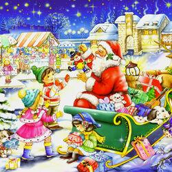 Пазл онлайн: Веселое  Рождество