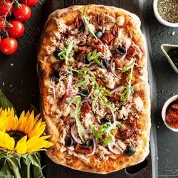 Пазл онлайн: Домашняя пицца