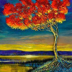 Пазл онлайн: Дерево осени