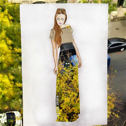 Пазл онлайн: Осеннее платье