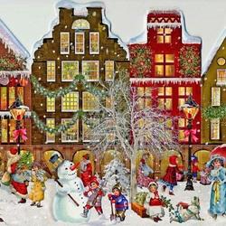 Пазл онлайн: Рождество на улице